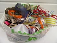 Large bag of offcut ribbon 3mm to 100mm, all sizes